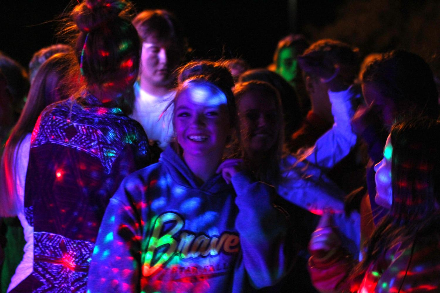 RAINBOW RAVE: Informal dances, like the first icebreaker dance in August, have become the norm.