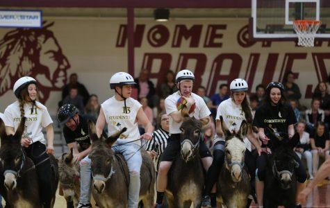 Donkey Basketball Asstounds Spectators