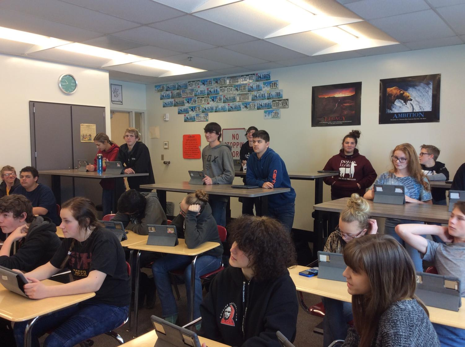 Math Students Standing And Wobbling Mountain Star