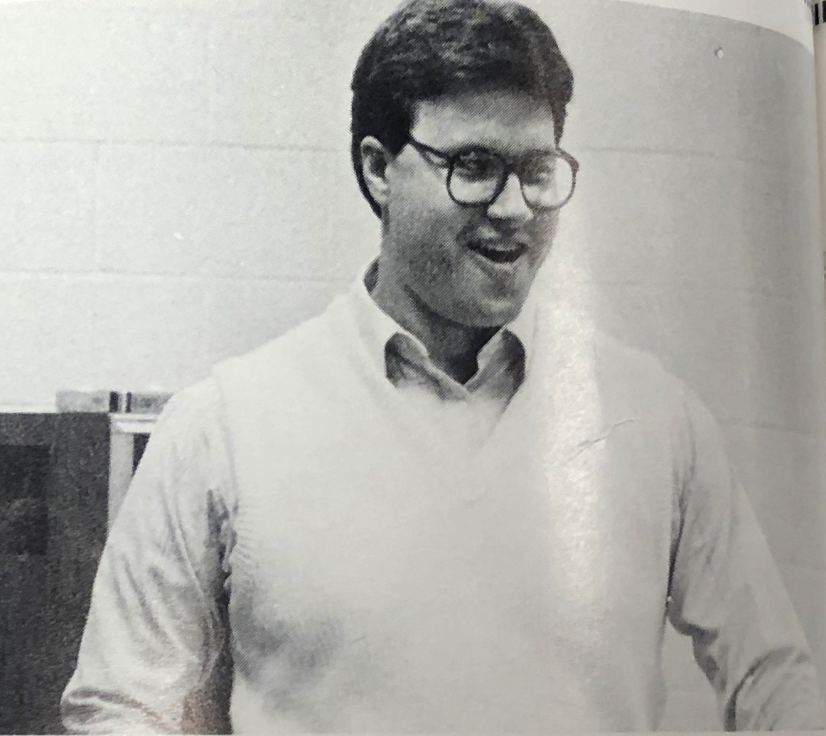 YOUNG BLOOD: Mr. Bennett in 1987, his first year teaching at SVHS.