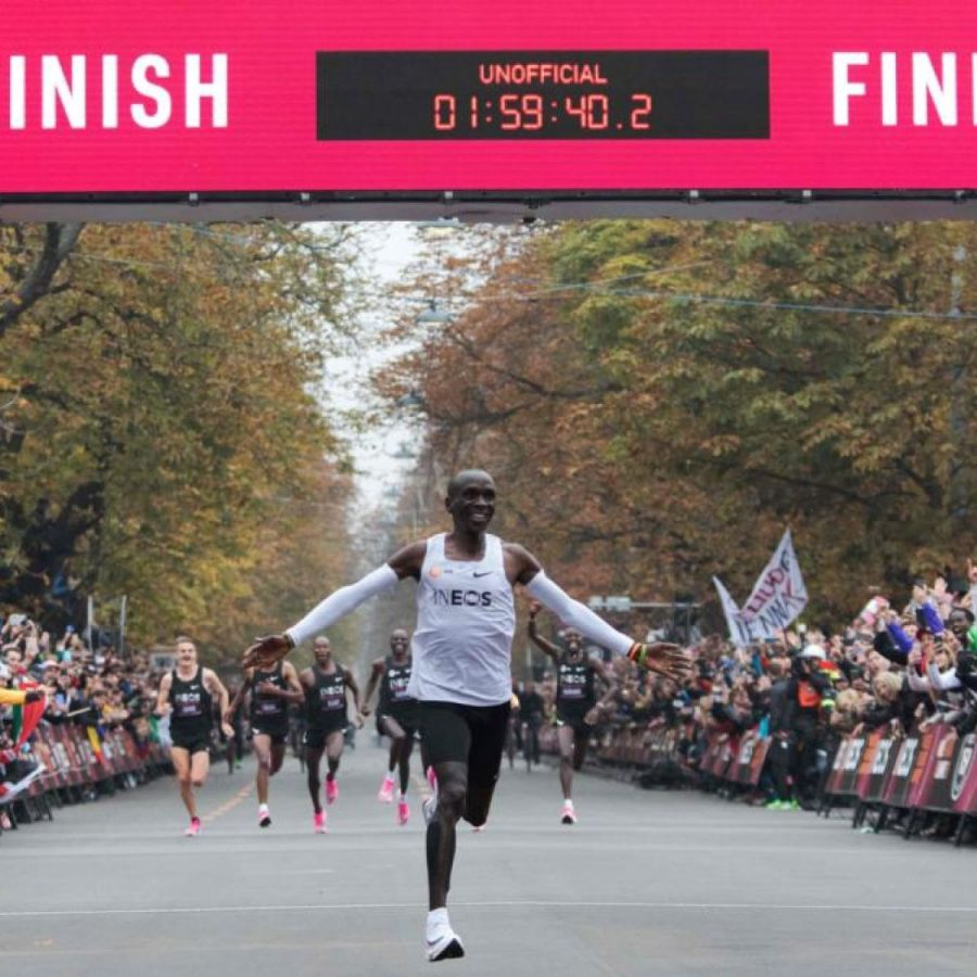 Kipchoge First to Run Sub 2 Hour Marathon