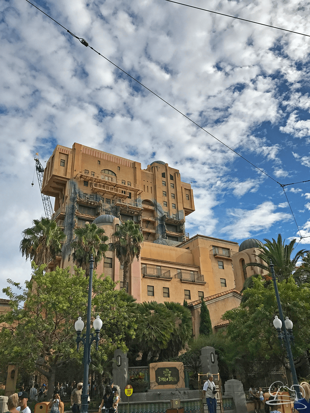 TOWER OF TERROR: Who know what kind of stuff you will find about your room and what has previously happened in it!