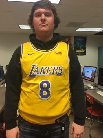 """KOBE: I actually got my Kobe jersey for my birthday three days before he died which is really sad because he's always been my favorite player. I've always thought of him being the GOAT but now I wear the jersey in memory of him,"""" said Brandon McDonald."""