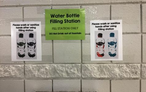 DRINK UP: Drinking fountains are now being used as water bottle filling stations.