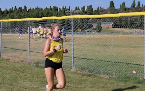 ENERGY NEVER STOPS: Emily was injured before the season started but not even an injury can stop her from running her hardest.