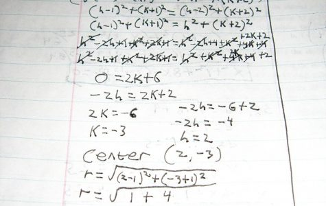 CALCULUS: This is an example of the kind of work done in Calculus. Sage Rainey says that Calculus takes up most of her homework time. With work like this, it's easy to see why!
