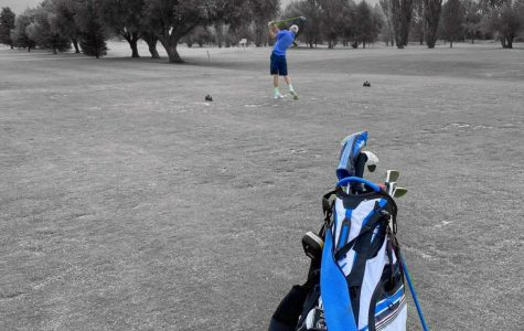 FORE! Karsen Spaulding practicES hard for the next tournament. He said,