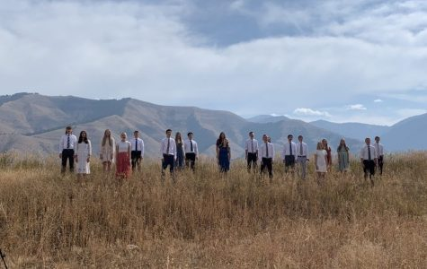 MUSIC VIDEO MADNESS: Singcopation records their music video in the heart of Star Valley. Making a video in place of a traditional concert allowed the group to share their talents with audiences while still maintaining distance during the pandemic.