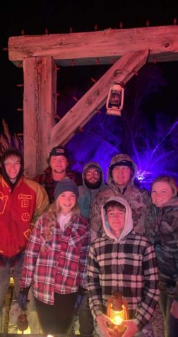 MAZED AND CONFUSED: Chance Bagley, Faith Shaw, Jessen Frericks, Raf Green, Caellie Hale and Kysen Hebdon hit the straw maze in Rexburg for some Halloween fun.