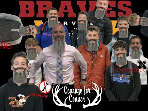 BOLDY BEARDED: Students from Mr. Patterson