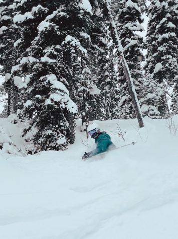 POWDER DAY: Emily Strasburg enjoys a day in the fresh powder.