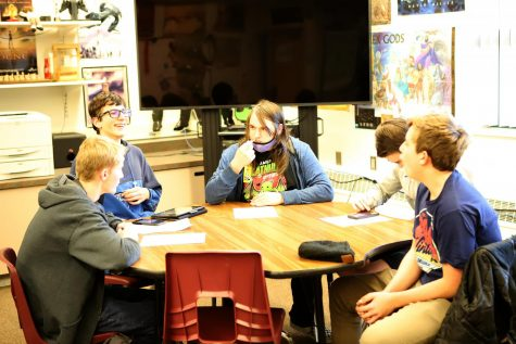 D&D: Club members meet on Wednesday nights to roll some dice and play the game.