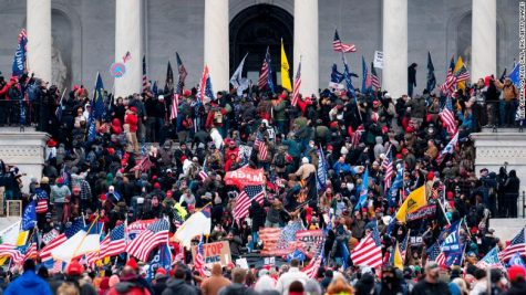 CAPITOL CHAOS: Trump supporters break into the Capitol Building in protest of the November Presidential Election results. President Trump was accused of encouraging the violence.
