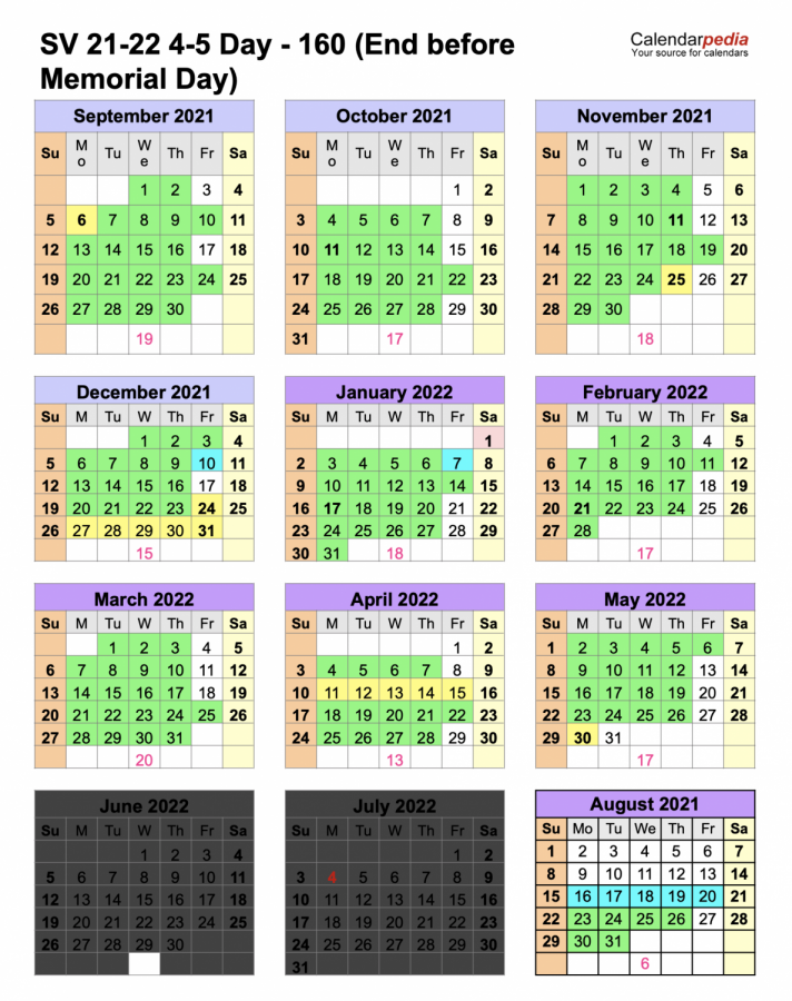 """DAYS OF OUR LIVES: This proposed calendar will be the one setting next school year's schedule, pending school board approval. District employees voted for this schedule over one that took more Fridays off but w ent a few days into June. """"If I was going into the 2021-2022 schedule, I'd want to have less Friday's cause it feels like the week goes by faster,"""" said Brierly Battleson."""
