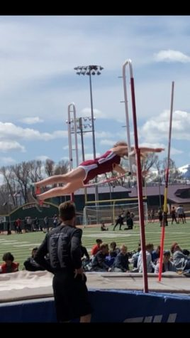 "SOARING HIGH: Junior Faith Shaw competes in the high jump competition. ""I really like doing high jump. It"