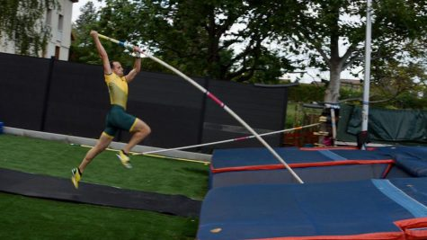 """OLD SCHOOL: Paintings found on vases taken from excavations show that the art of pole vaulting was known to the Greeks.  """"I do pole vault, sprints, and jumps. Pole vault is really hard,"""" said Eli Rammell. Pole vaulting is the most complicated and technical of all track and field events."""
