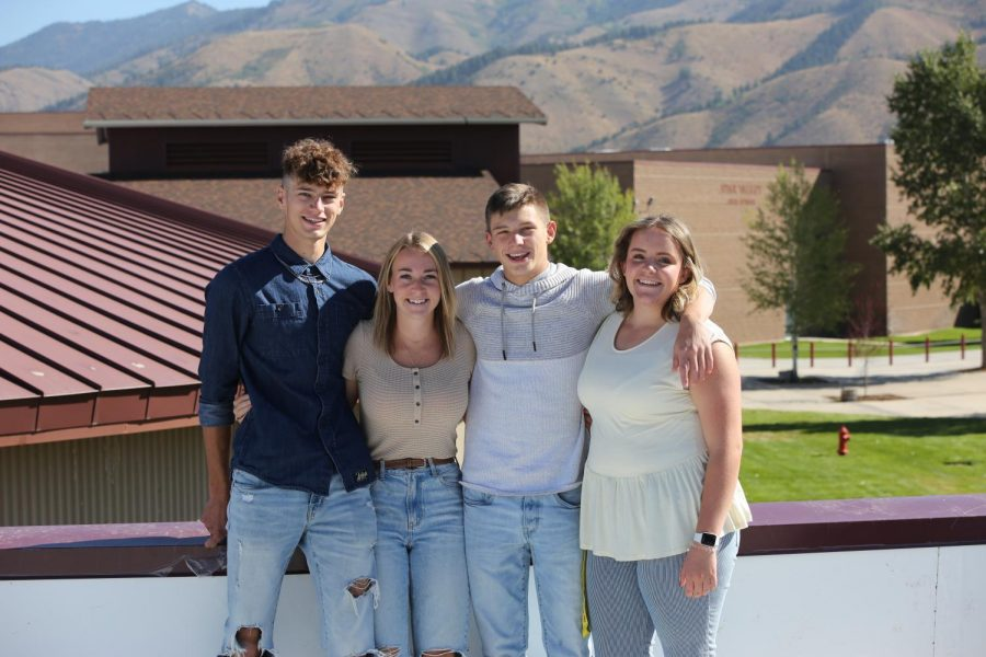 SMILE BIG: This years SBO's pose for a picture at the beginning of the year on the roof. They worked very hard to make this year great.