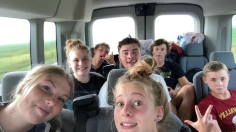 """FAMILY VACA: The Merritt family piles in a car for a trip to Oregon. Many other students traveled out of state over the summer. """"I spent the whole summer vacationing in Utah spending time with family and friends,"""" said junior Kennedy Pebbles."""