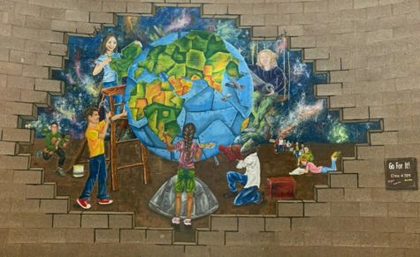 IMAGINE: Most students will recognize this hallway mural, but many have forgotten the message behind it