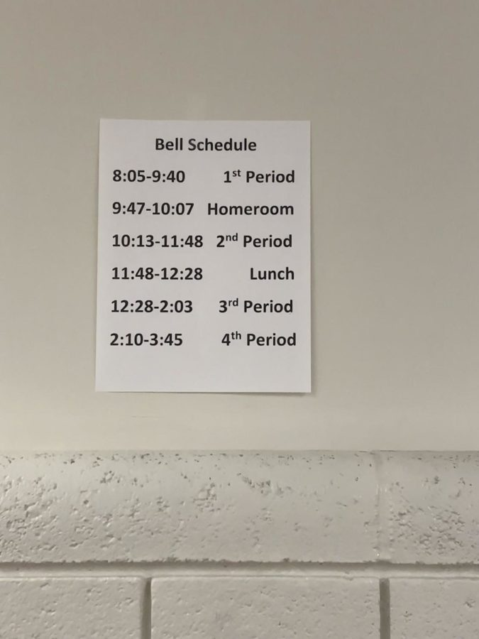TIME FRAME: The new class schedule has students stressed and tardy.