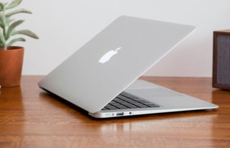 BOOKED: MacBooks like this one are the standard operating device for students this school year and going forward.