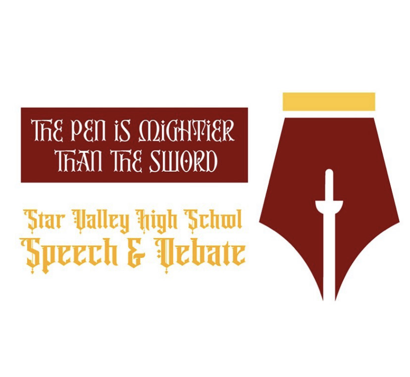 LET YOUR VOICE BE HEARD: The logo for the 2021-2022 Speech and Debate Season
