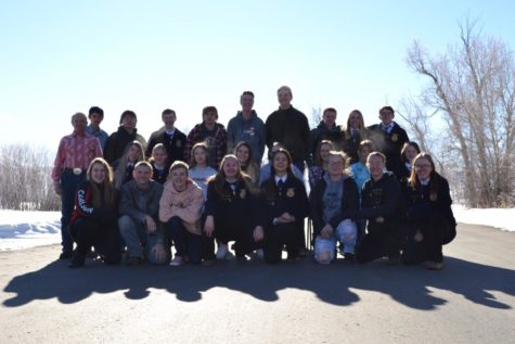 TAKING MEMORIES: As the FFA members travel to the other side of the state they are able to learn more skills that may help them. While doing that they are also making memories that will last a lifetime. My favorite part is the memories we make together on trips, said junior Anna Olenslager.